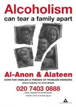 UK76 Alcoholism Can Tear a Family Apart (A4 poster)*